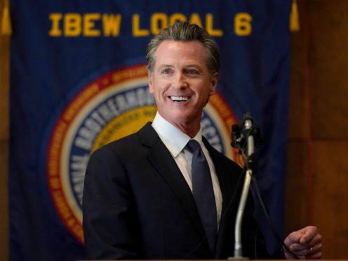 California governor Gavin Newsom has beaten a recall election (Jeff Chiu/AP)