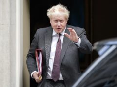 Boris Johnson leaves 10 Downing Street to attend Prime Minister's Questions in the House of Commons (Jonathan Brady/PA)