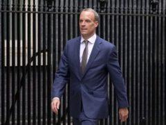 Dominic Raab arrives in Downing Street (Stefan Rousseau/PA)