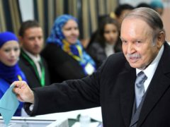 Former Algerian President Abdelaziz Bouteflika, seen here in 2012, has died (Anis Belghoul/AP)