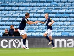 George Saville (right) celebrates his equaliser (Nigel French/PA)