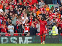 Sadio Mane opened the scoring for Liverpool (Peter Byrne/PA)