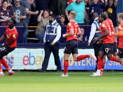 Luton's three-goal lead was wiped out by Swansea (James Holyoak/PA)