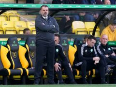 Celtic manager Ange Postecoglou during the defeat by Livingston (Andrew Milligan/PA)