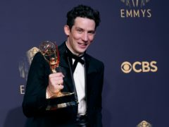 Netflix hailed an historic night after its stars including Josh O'Connor were among the winners at the Emmy Awards (AP Photo/Chris Pizzello)