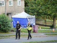Emergency services at the scene in Chandos Crescent in Killamarsh, near Sheffield (Danny Lawson/PA)