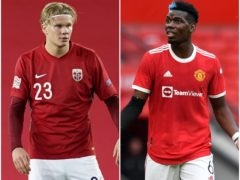 Erling Haaland and Paul Pogba continue to keep the transfer rumour mill buzzing (Fredrikh Hagen/Anthony Devlin/PA)
