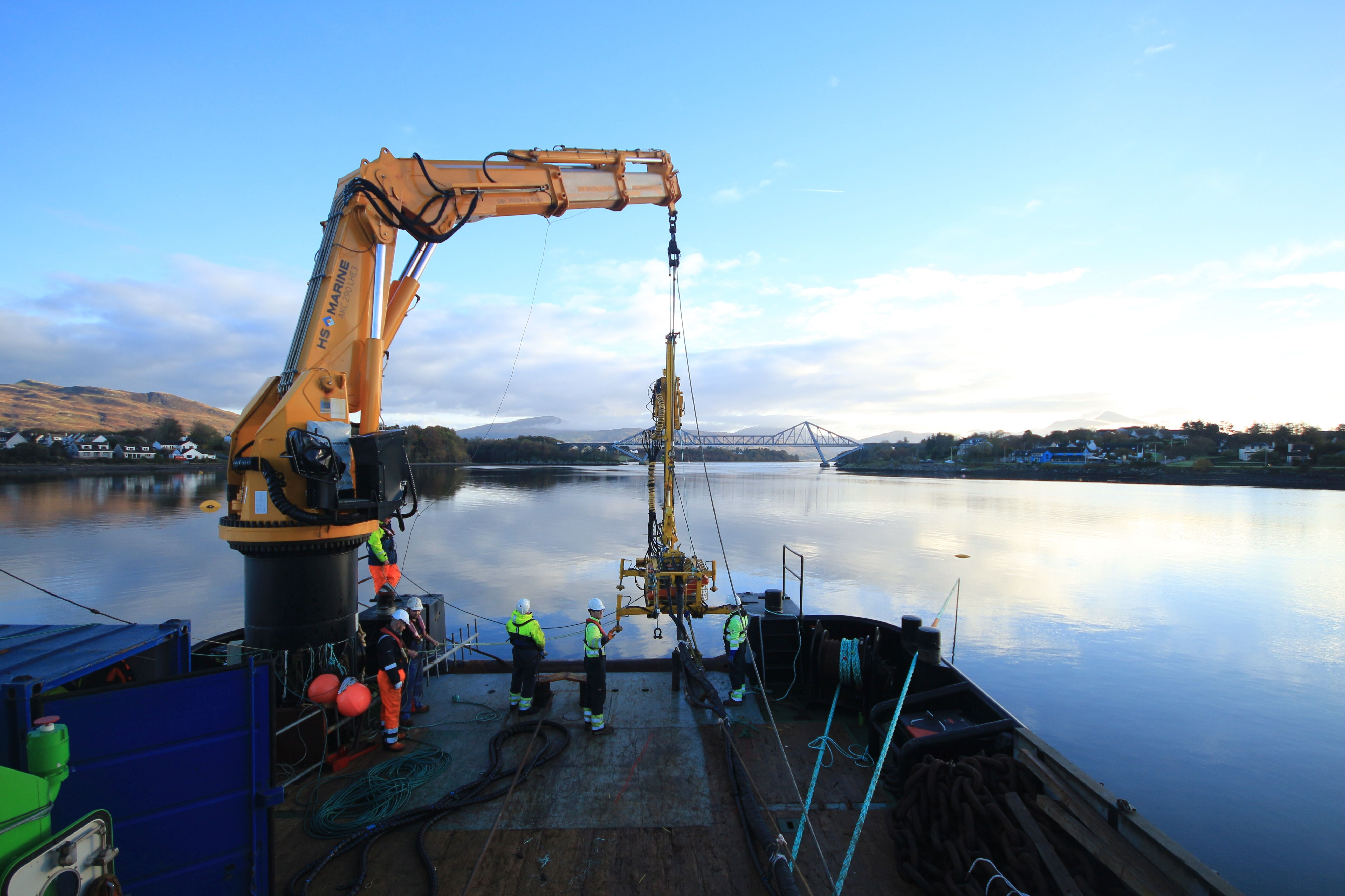 Anchoring technology - the new model will first be tested in the Civil Engineering department at the University of Dundee