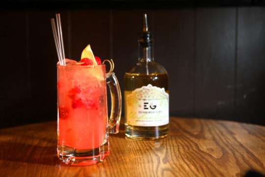 Featured Image for Elderflower & Raspberry G&T, with Edinburgh Elderflower gin liqueur