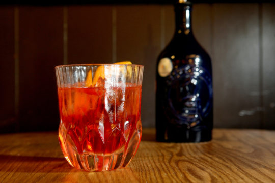 Featured Image for Negroni cocktail, with McQueen Smokey Chilli gin