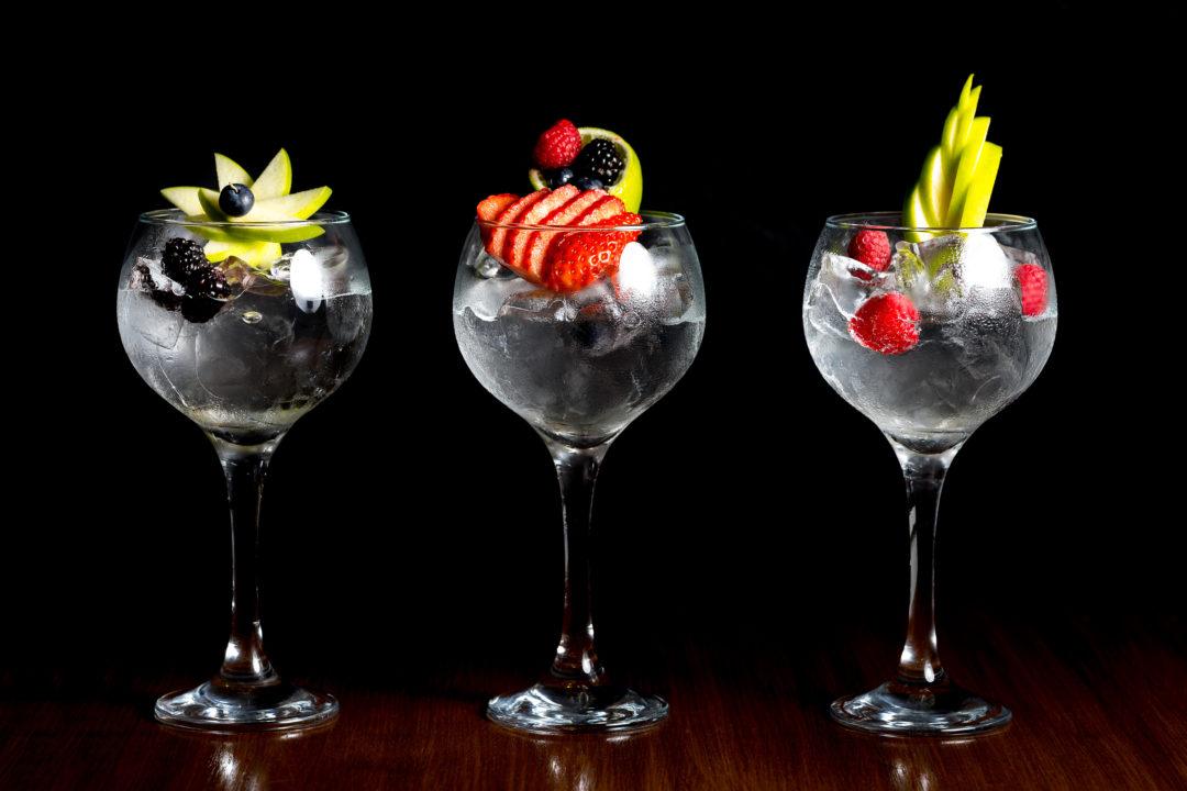 fancy gin and tonics