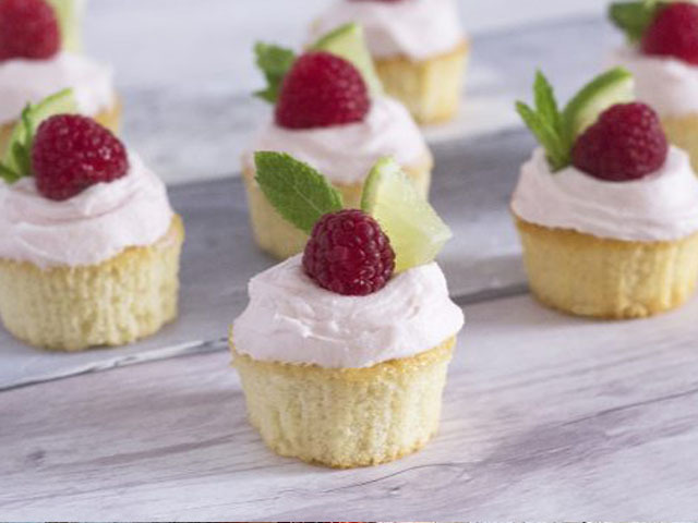 Featured Image for Raspberry-Rose Gin Rickey Cupcakes