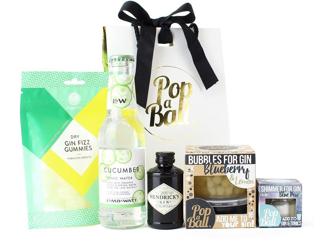 popaball shimmer for gin gift set
