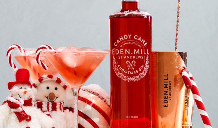 Featured Image for Eden Mill's Candy Cane Gin Is the Ultimate Festive Treat