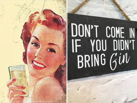 Featured Image for 15 hilarious home plaques every gin lover needs