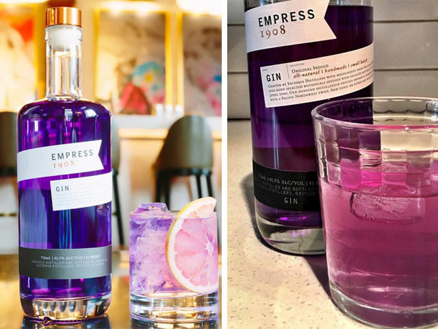 Featured Image for Colour changing gin: The gin that's violet then pink in one glass