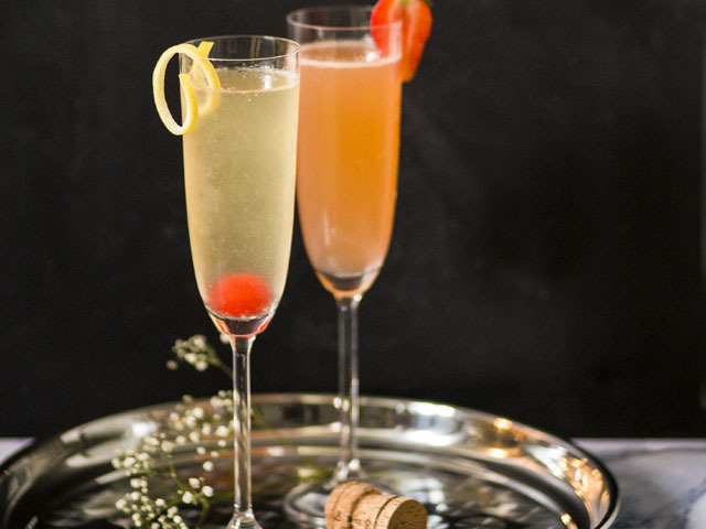 Featured Image for French 75 & Nicola 7 cocktails