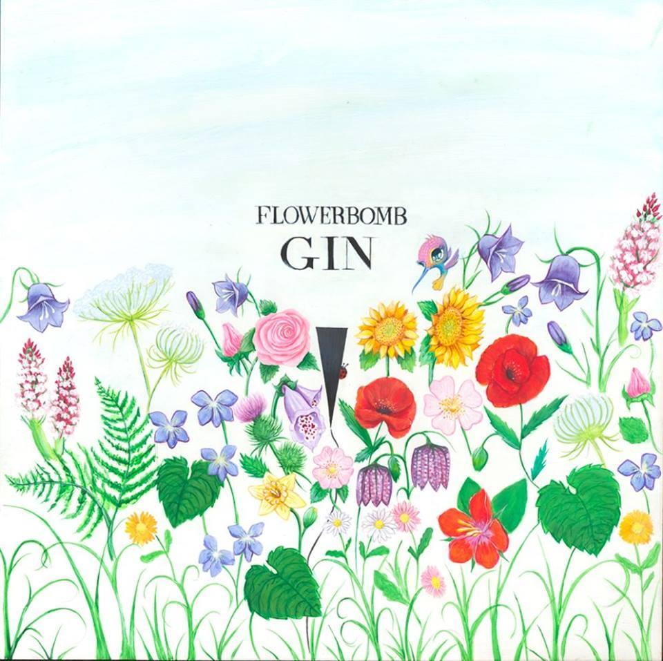 flowerbomb gin artwork