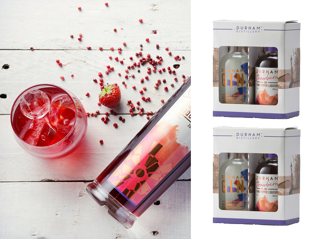 Featured Image for The Durham Gin gift pack features a strawberry & black pepper liqueur