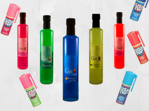 Featured Image for These neon gin liqueurs remind us of Push Pops