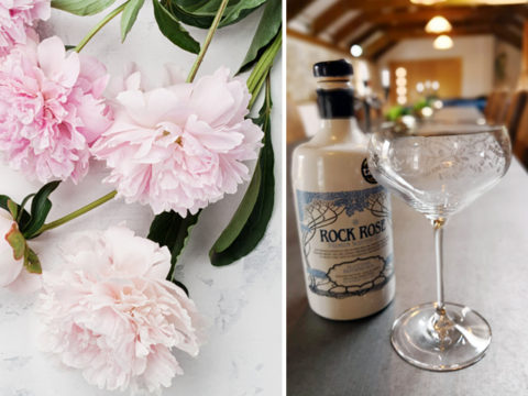 Featured Image for The Rock Rose floral coupe is the prettiest gin glass