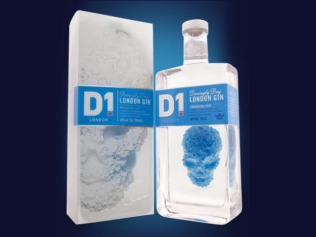 Featured Image for D1 London Gin features an Alexander McQueen 3D skull