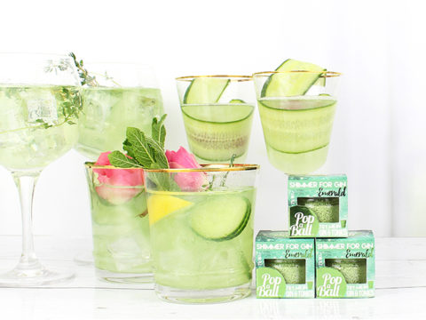 Featured Image for The new Cucumber Popaball will turn your G&T glittery and super refreshing
