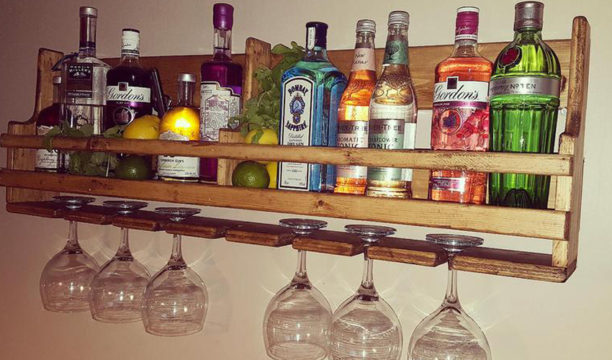 Featured Image for This Bespoke Gin Rack Will Keep Your Gin Bottles Pride of Place