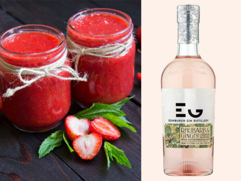 Featured Image for Rhubarb and Strawberry Gin Slush Smoothie, with Edinburgh Gin Liqueur