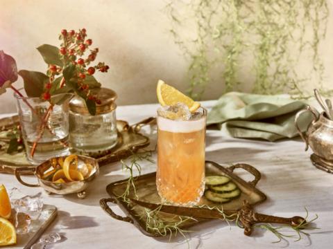 Featured Image for Garibaldi Spagliato cocktail, with Hendrick's Gin