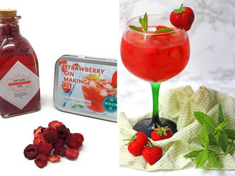 Featured Image for This strawberry gin making kit is the perfect DIY project