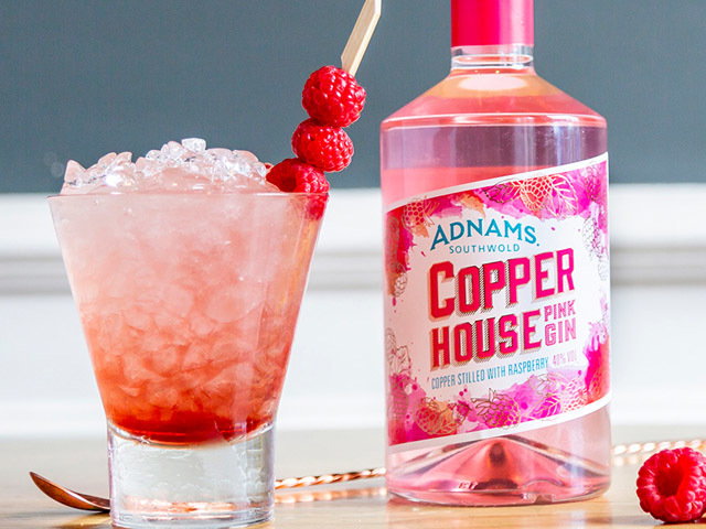 Featured Image for This new pink gin has a delicious twist of raspberry