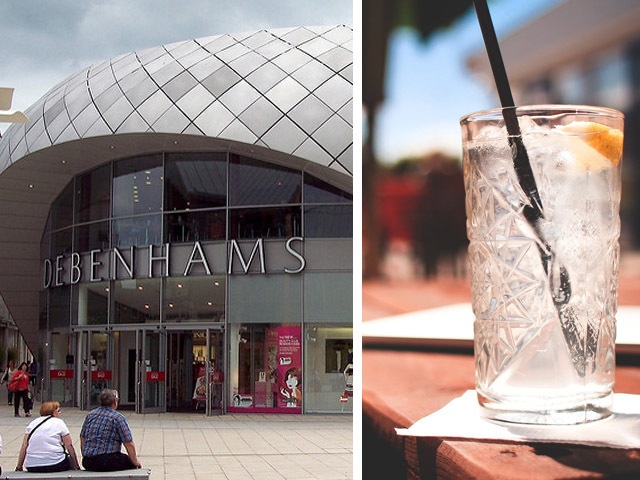 Featured Image for Debenhams now has a gin bar if you fancy a G&T