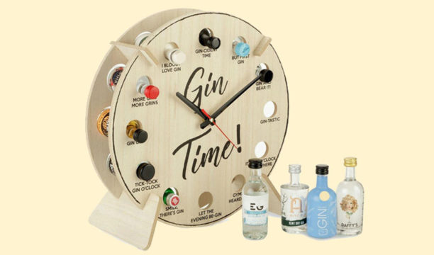 Featured Image for This Gin Bottle Clock Means It's Always Time for Gin