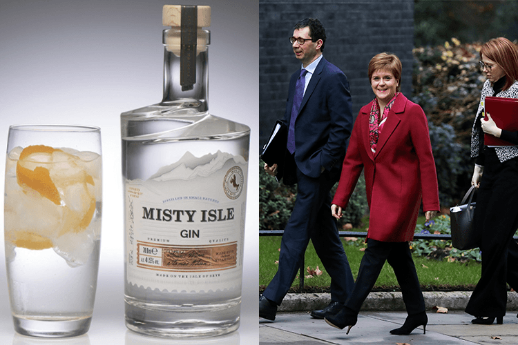 Featured Image for Nicola Sturgeon Presented Theresa May with a Bottle of Misty Isle Gin