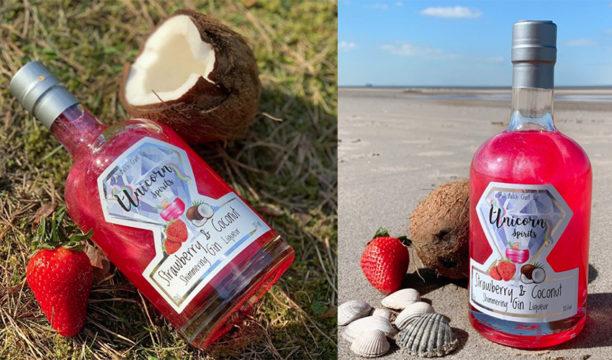 shimmering strawberry coconut liqueur