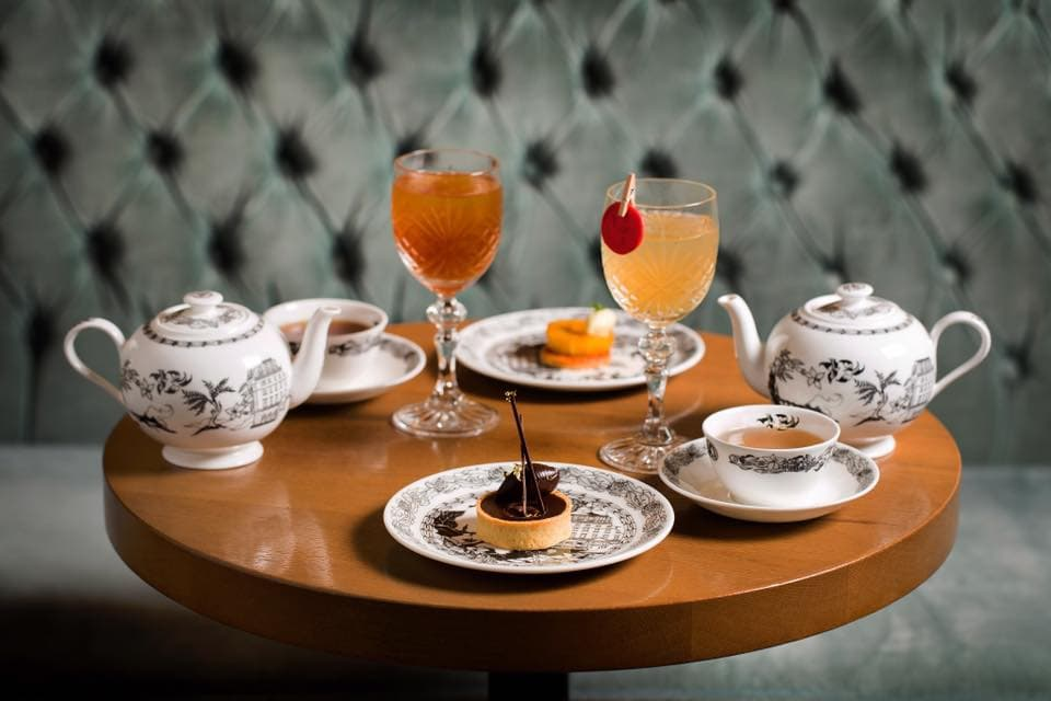 london gin afternoon tea