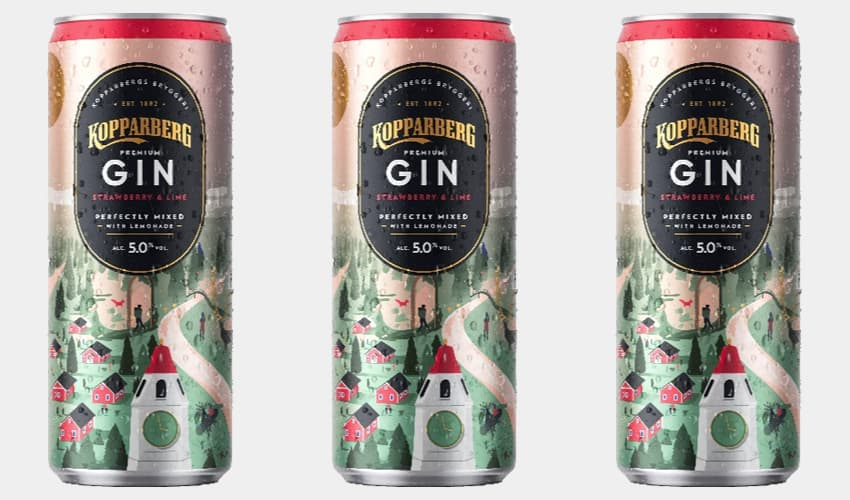 pink gin cans