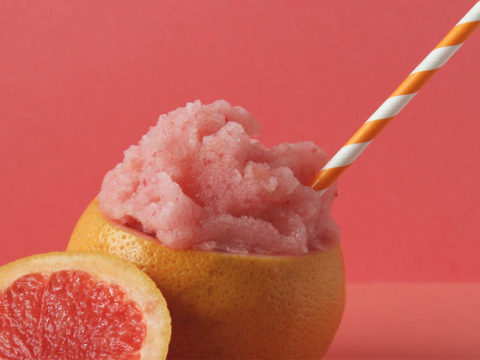 pink grapefruit gin slush