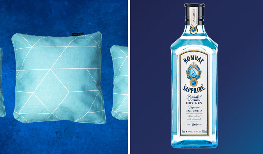 Featured Image for These Bombay Sapphire Inspired Cushions Are as Classy as a Glass of G&T