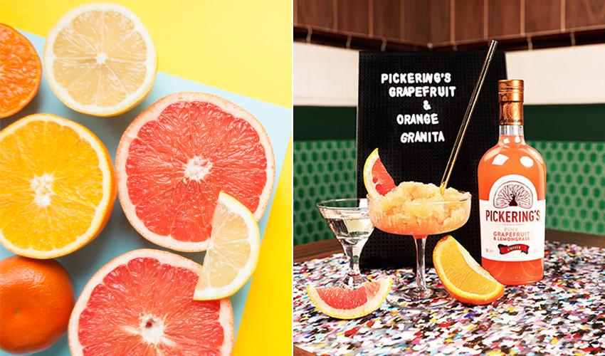 Grapefruit and orange gin cocktail