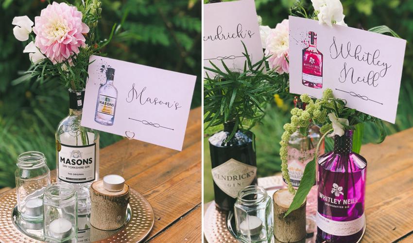 gin wedding table names