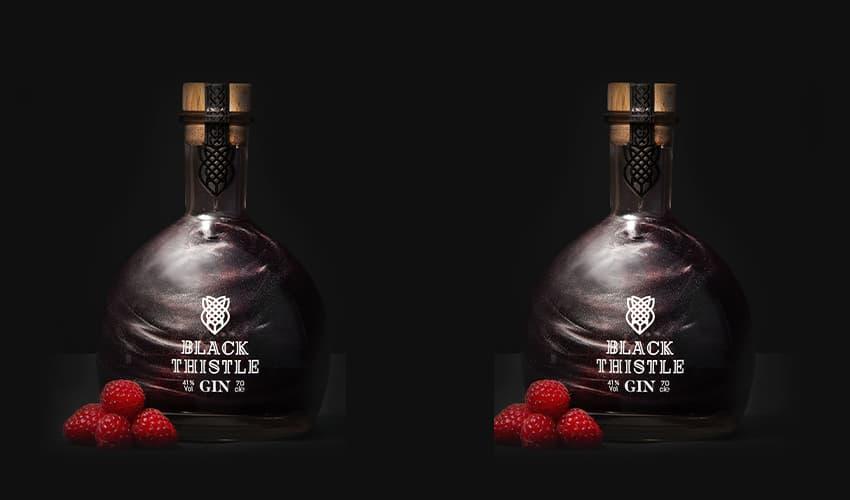 black shimmer gin