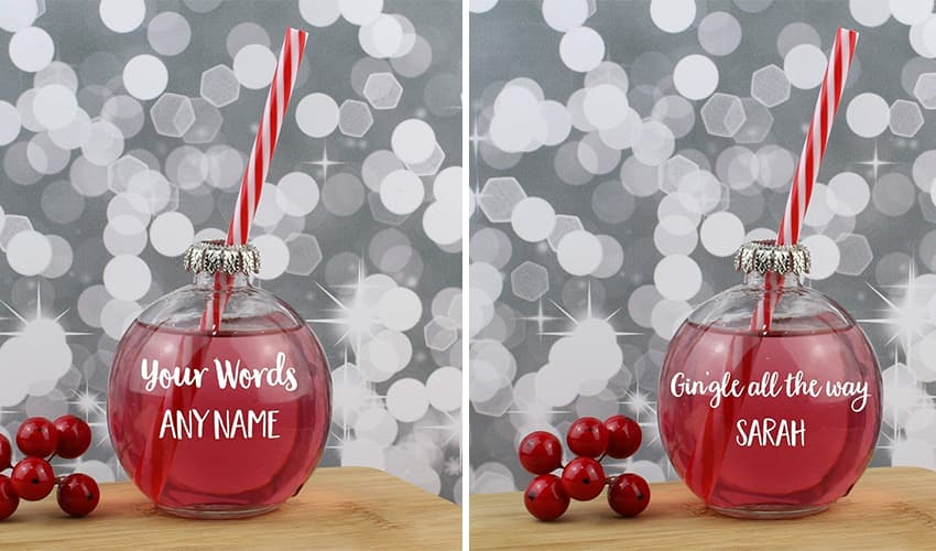 personalised gin baubles