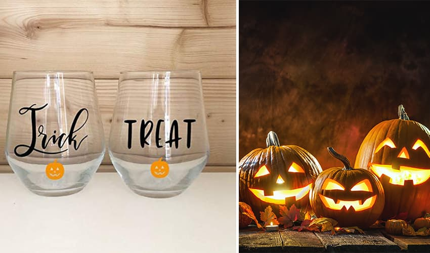 halloween gin and tonic glasses