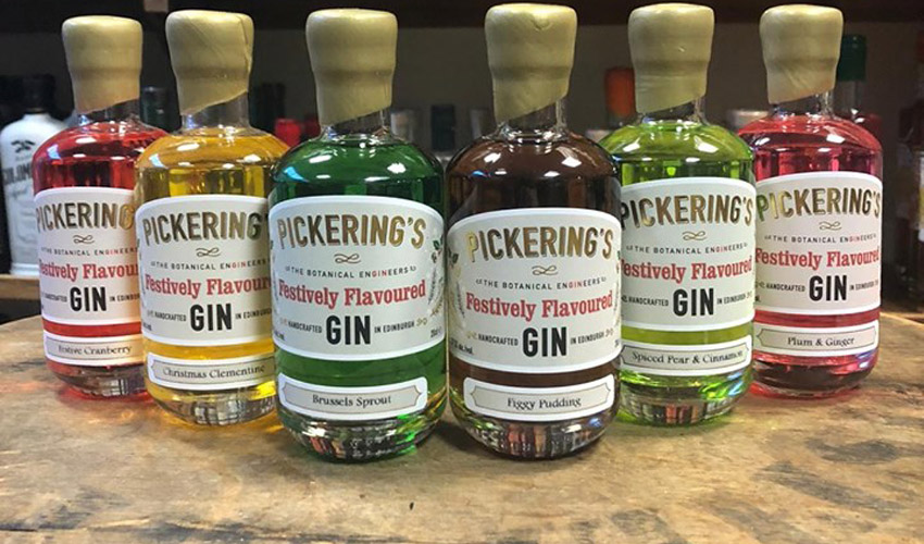 Featured Image for You Can Buy Pickering's Festively Flavoured Gin in Handy-Sized Bottles