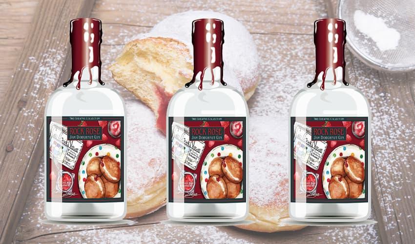 rock rose jam doughnut gin
