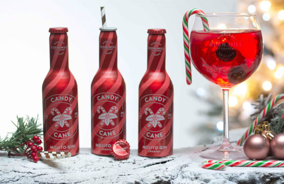 Featured Image for Eden Mill Has Launched a Ready-to-Pour Candy Cane Mojito