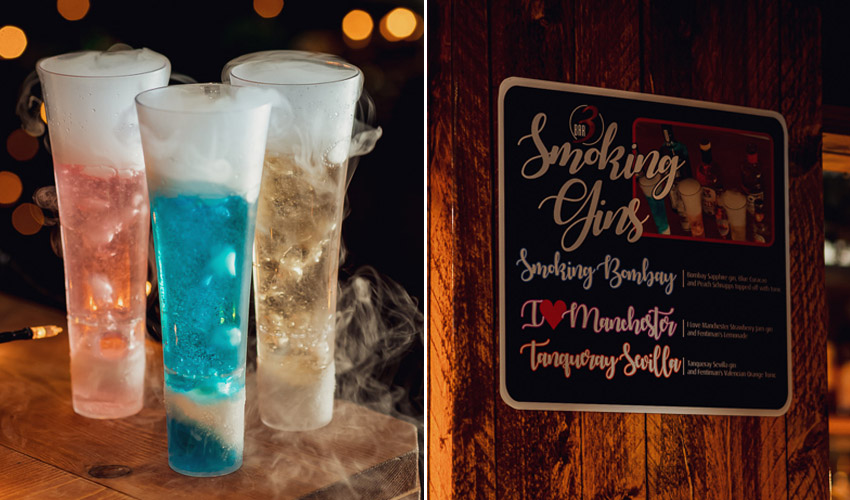 smoking gin cocktail