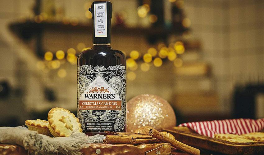 Warners Christmas cake gin